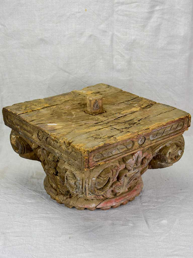 Antique salvaged column capital