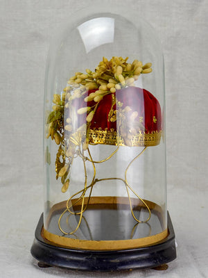 Napoleon III marriage dome with bridal bouquet