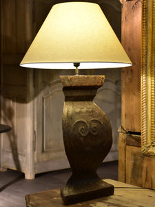 Italian lamp made with salvaged tole stand
