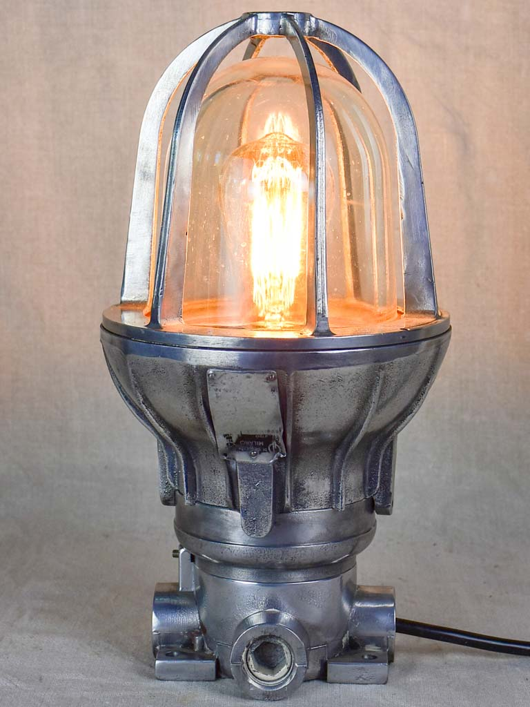 1950's French boat lamp 14¼""