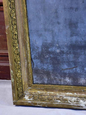 "19th Century French rectangular mirror with aged mercury glass 33"" x 24¾"""