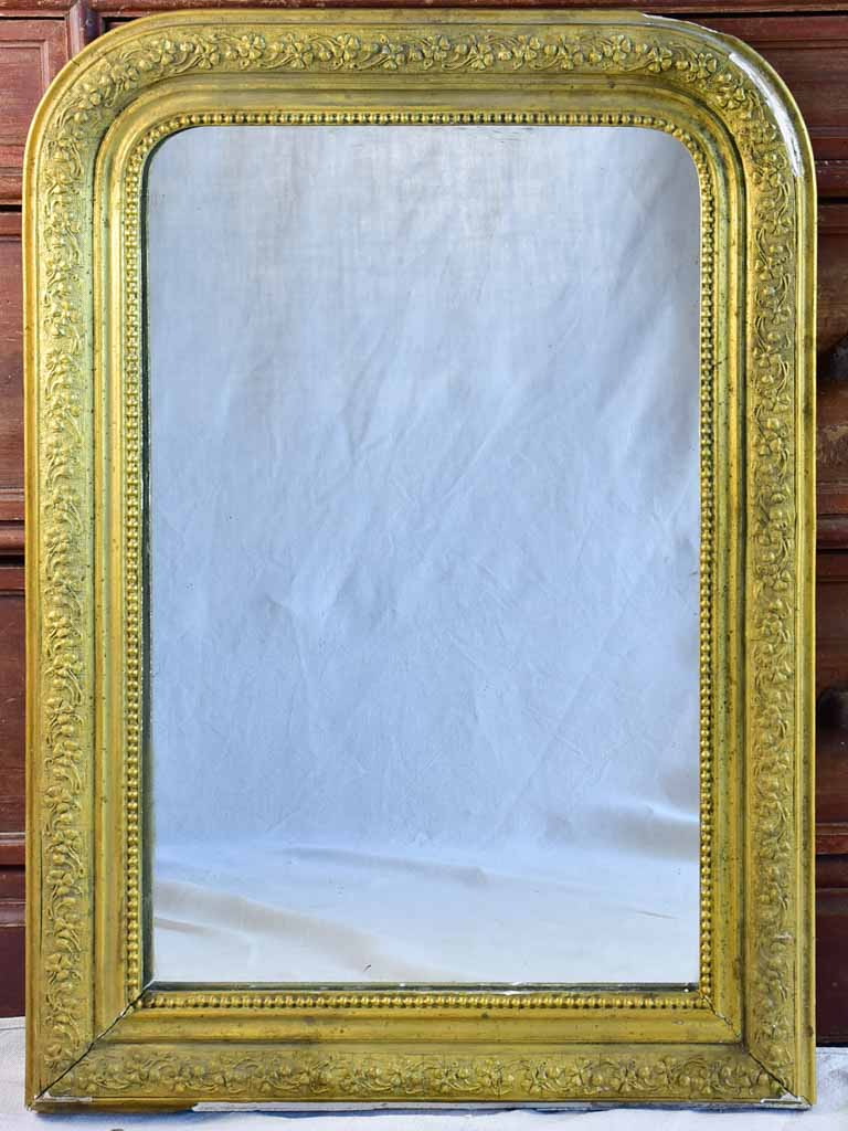 "Late 19th Century French Louis Philippe mirror with gold frame 21¼"" x 29½"""