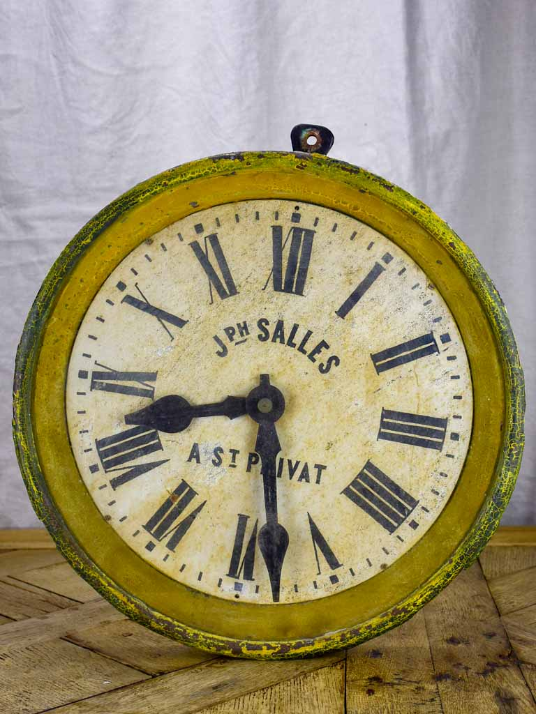 "Early 20th Century antique French clock 19¼"" diameter"