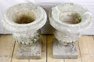 Pair of vintage French planters - Medici urn
