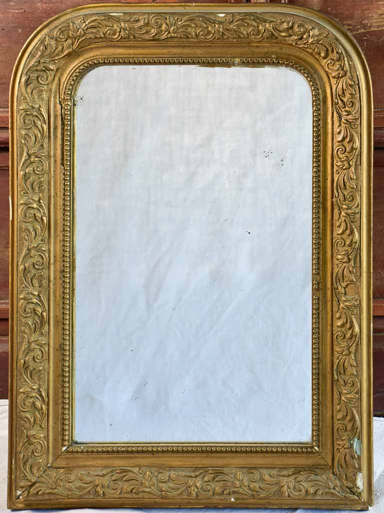 "Small Louis Philippe mirror with gold frame 16½"" x 22¾"""