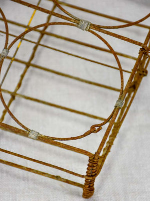 Antique French wire basket - eight glass capacity