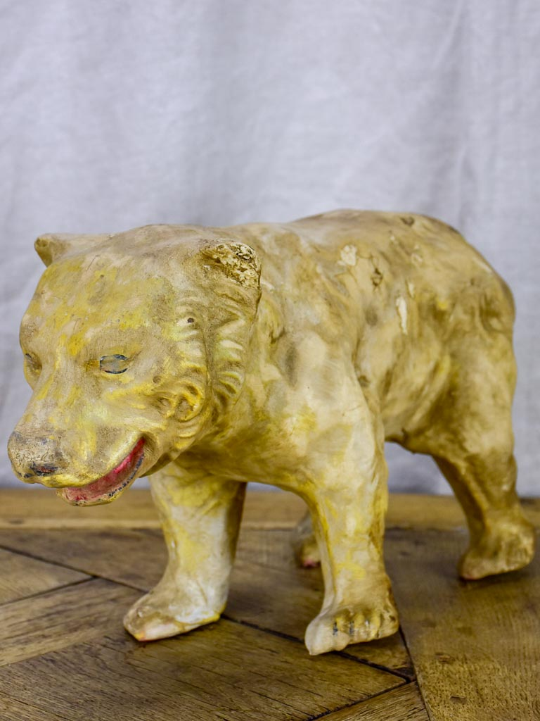 Antique French paper mache polar bear