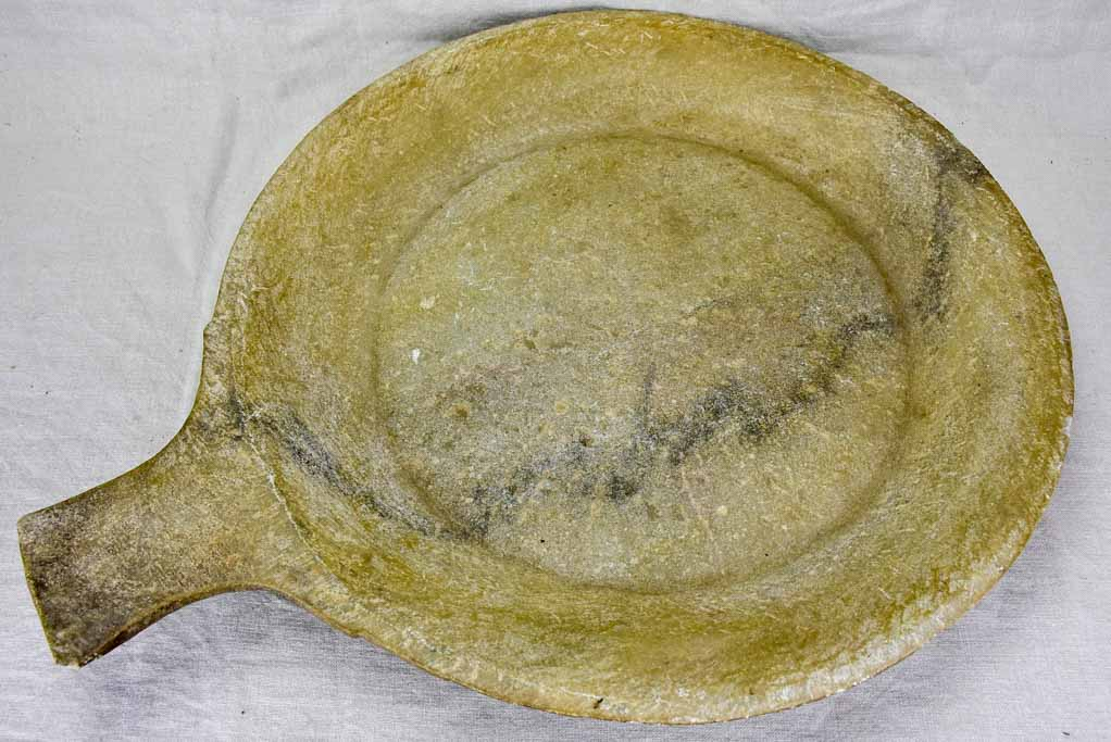 Superb large antique marble cooking dish 22½""