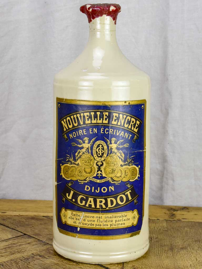 Large antique French ink bottle from Dijon 16½""