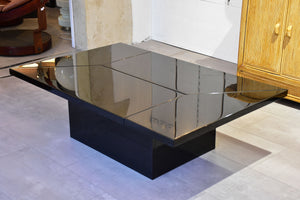 Paul Michel adjustable black coffee table / bar