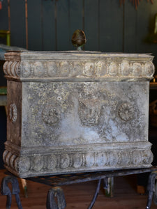 Early 19th century French fountain in zinc