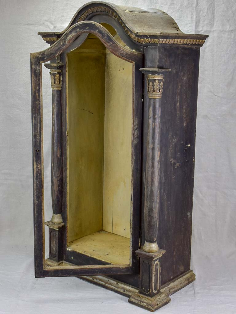 19th Century French display vitrine from a chapel 39½""