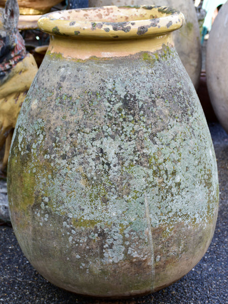 Weathered 19th Century French Biot olive jar