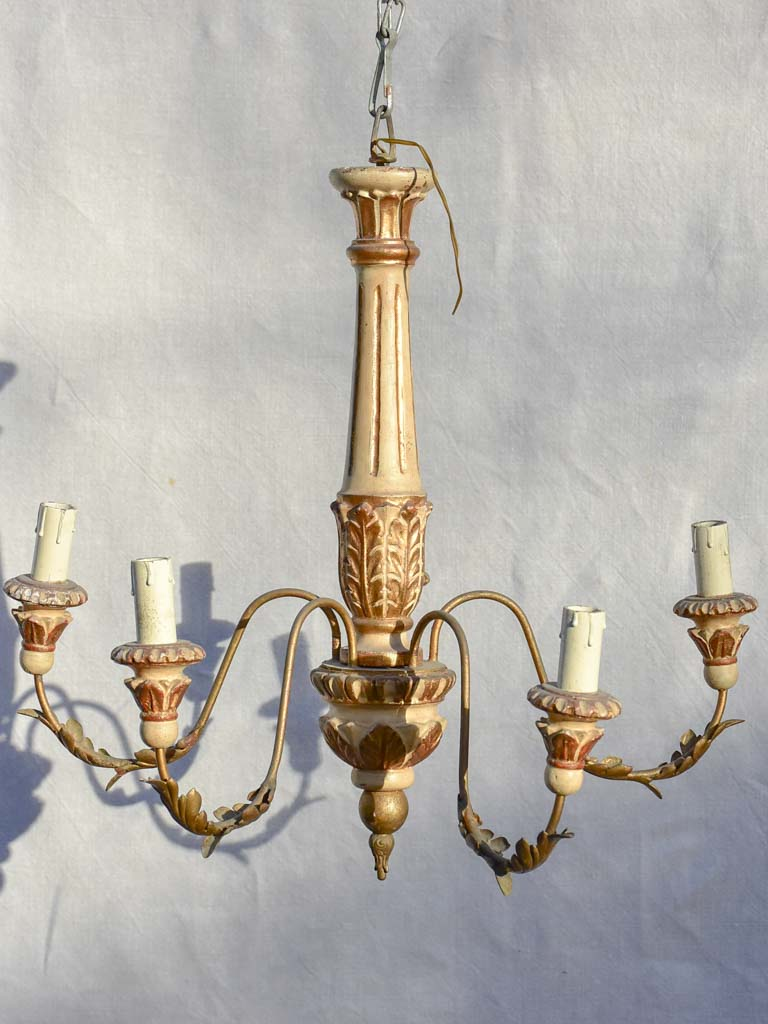 Pretty 5-light Italian chandelier from the late 19th century 19¼""