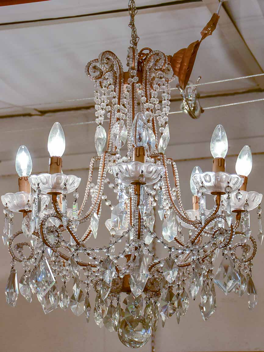 Pair of antique Italian chandeliers