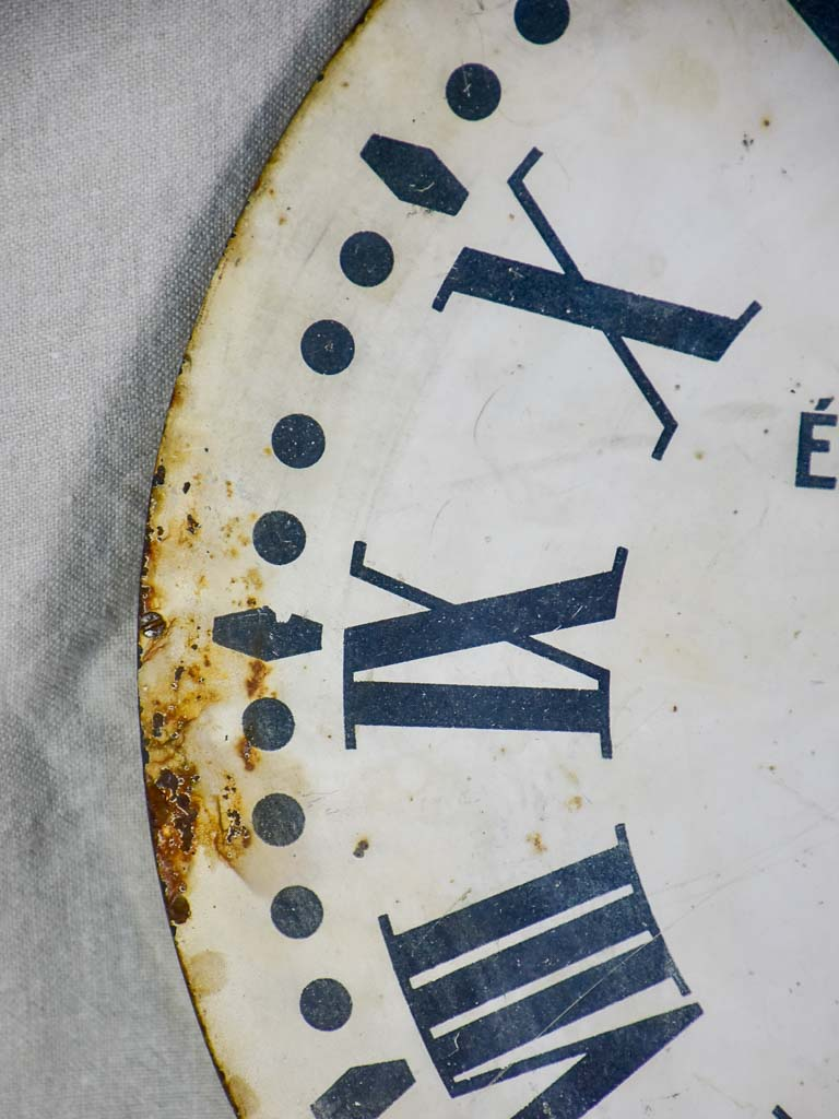 Mid century Electric Brillié industrial clock with original hands 19¾""