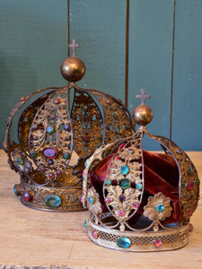 Two antique French Saint's crowns