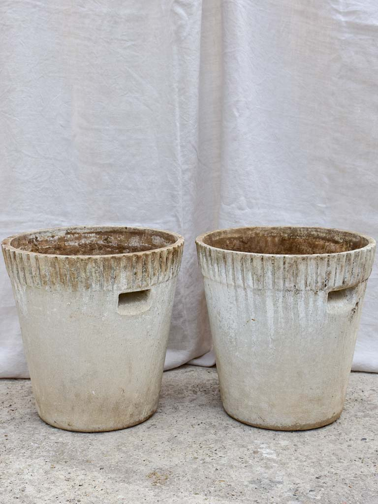Pair of mid-century tapered Willy Guhl garden planters 18""
