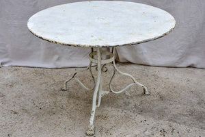 Antique French round garden table from Arras 40¼""