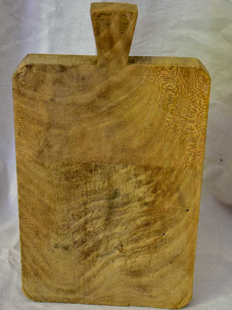 "Mid century French cutting board with hole through handle - sanded 15¼"" x 9"""