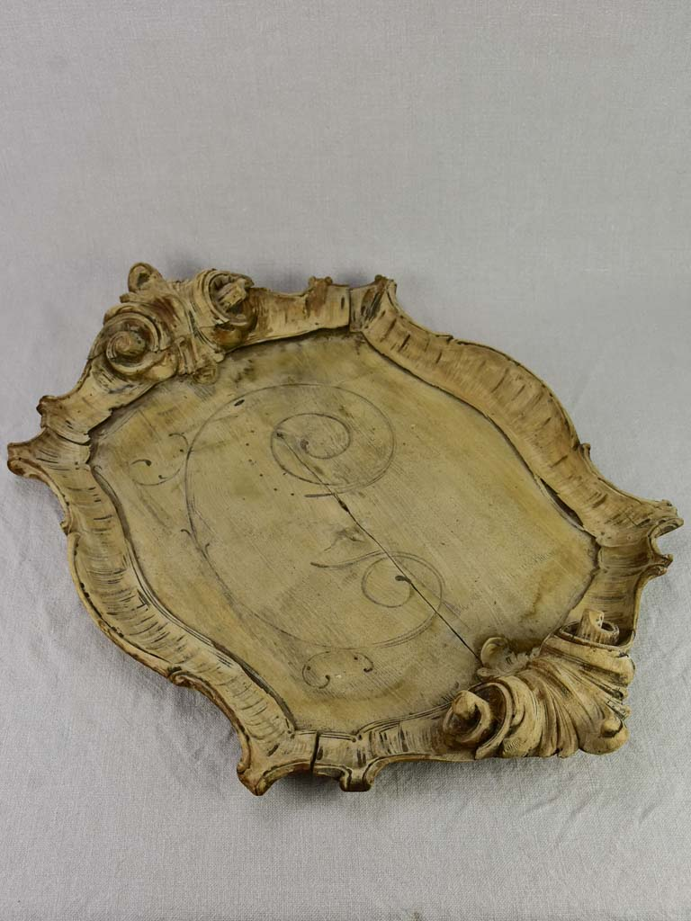 "19th Century Rocaille style walnut tray 25½"" x 17¼"""