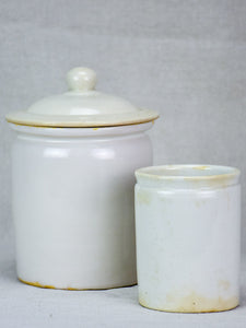 Two antique French earthenware pots