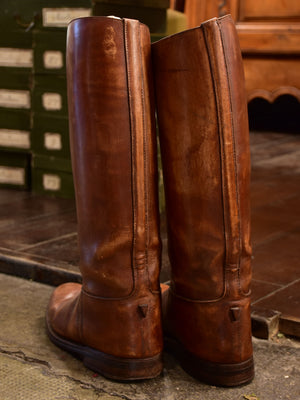 Pair of French leather riding boots – 1940's