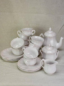 Antique French coffee service - 15 pieces