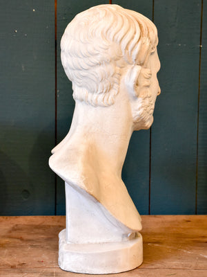 Antique French bust of a bearded man