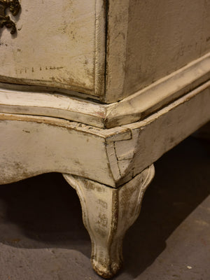 19th century French commode with white patina