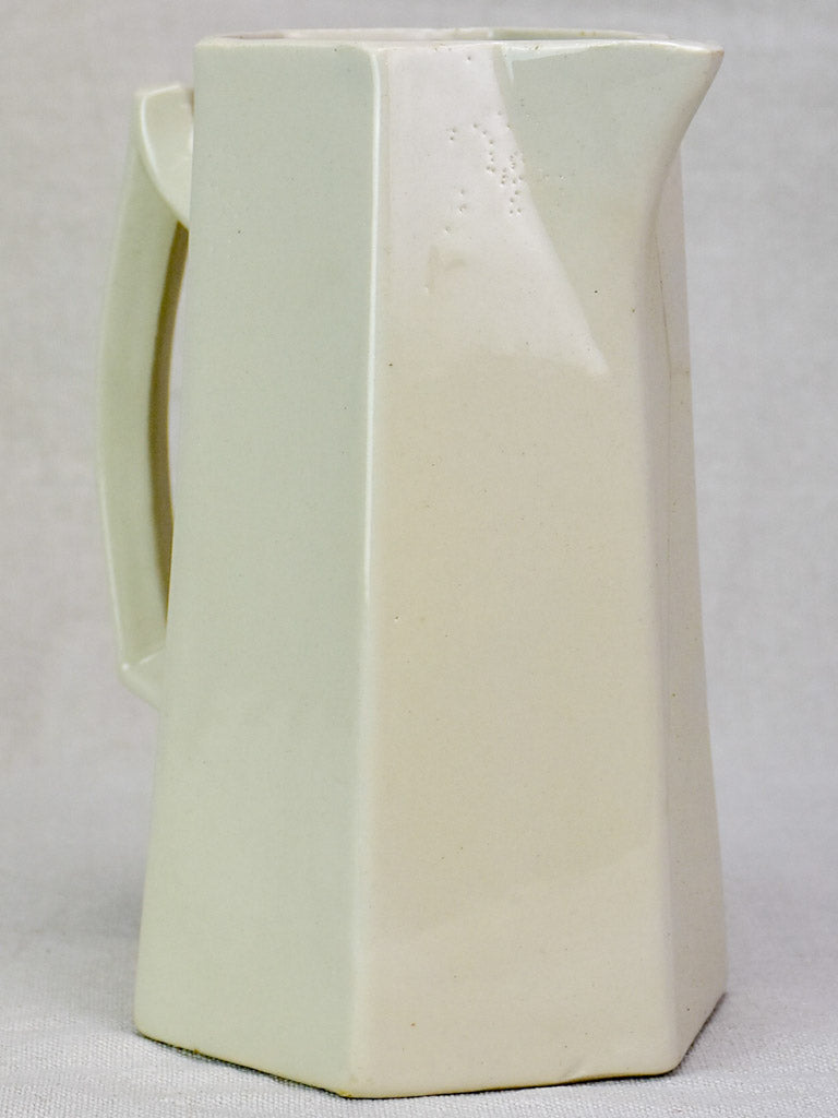 Early 20th Century French earthenware pitcher 8¾""