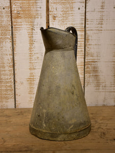 Large French zinc pitcher