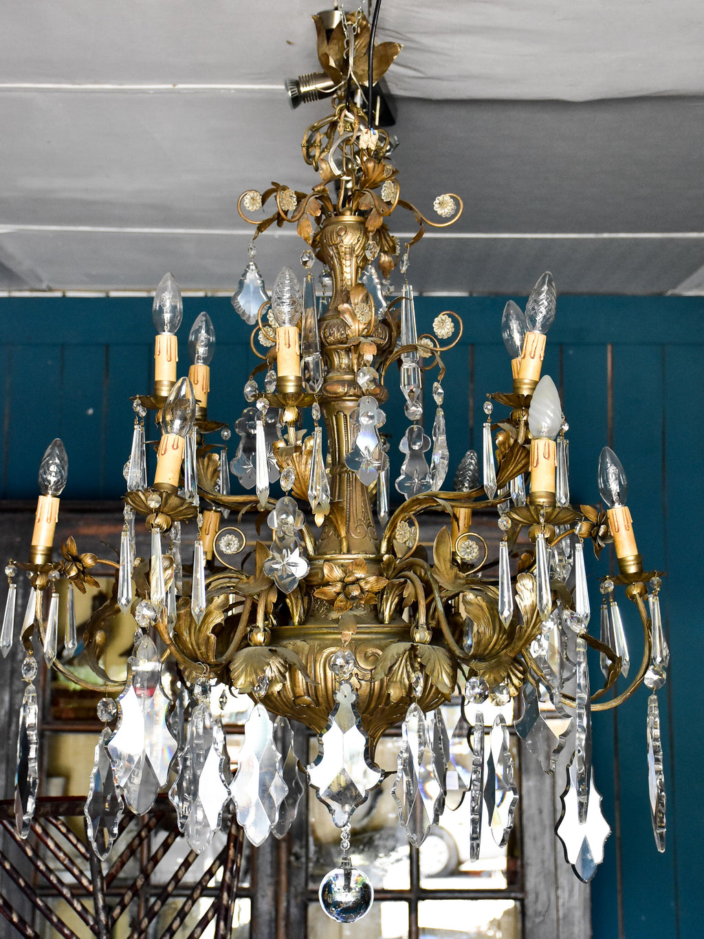 Large antique Italian chandelier
