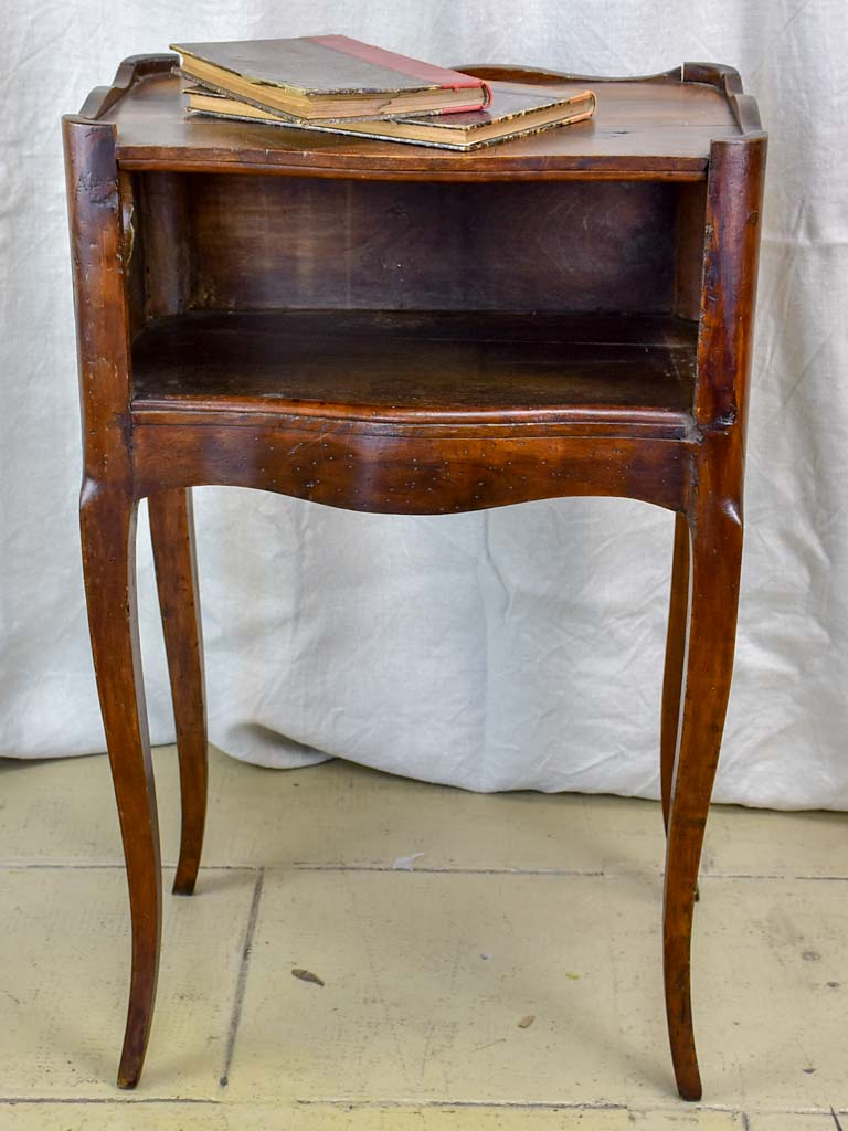 Antique French Walnut Nightstand With Hearts