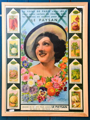 Collection of three Vintage French posters - Paysan seeds