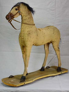 Antique French toy horse - pull toy