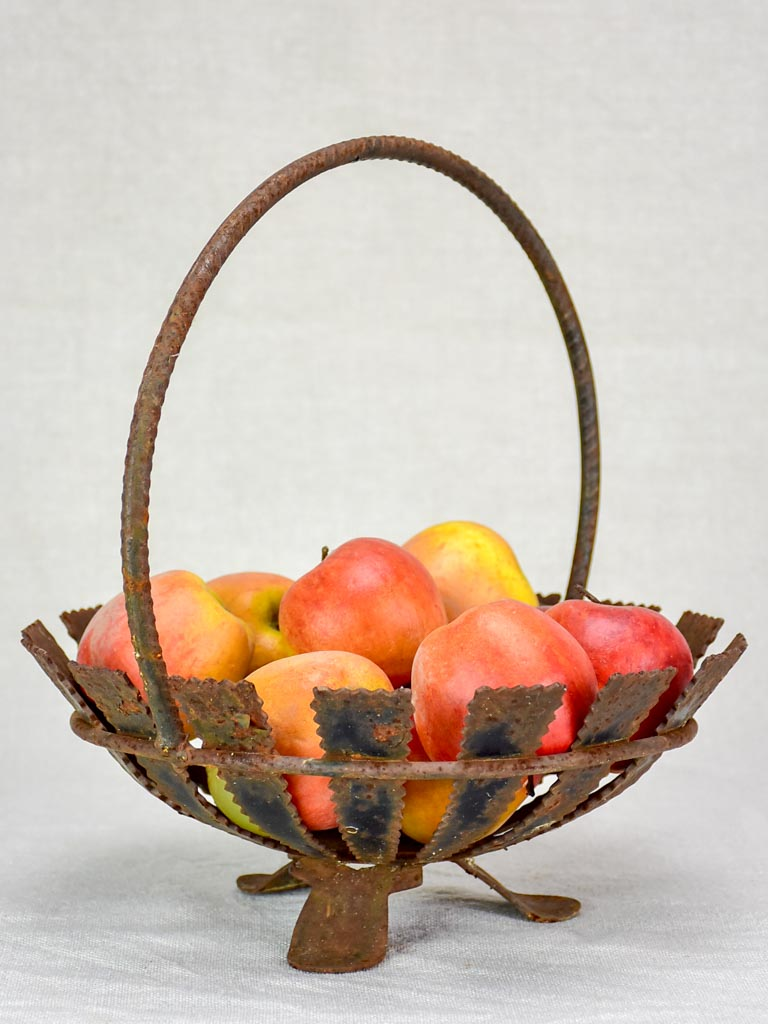 Rustic vintage fruit basket