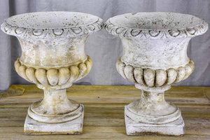 Pair of vintage Medici style planters - concrete (3 pairs available)