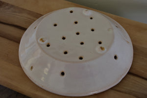 French cheese mould or faisselle - French dish with drainage holes