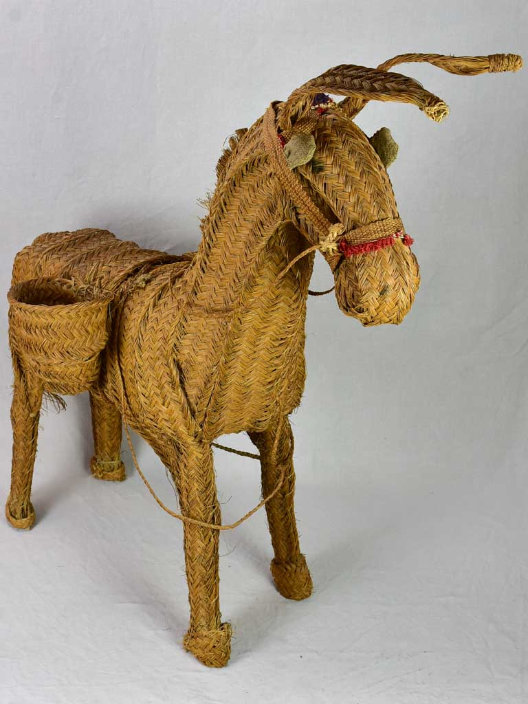 Vintage sculpture of a donkey - large 45¼""