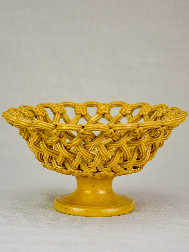 Early 20th Century woven ceramic bowl from Uzes 8""