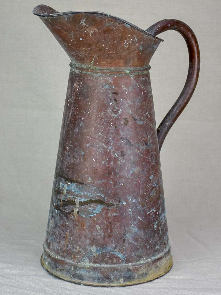 Large antique French water pitcher 19""