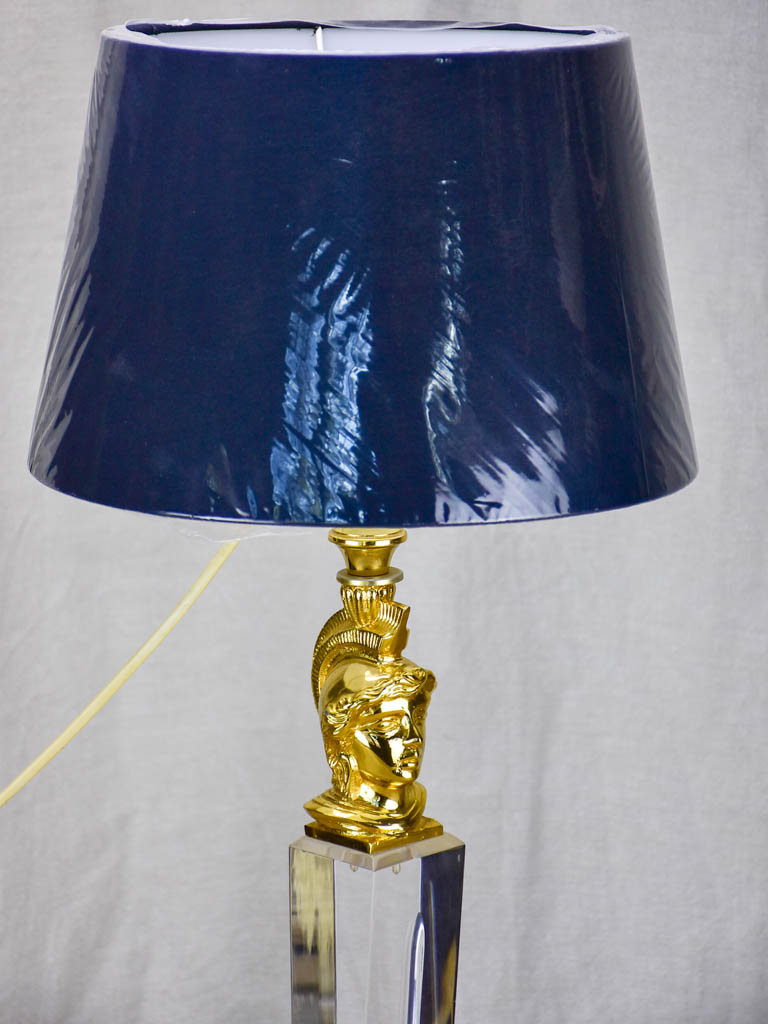 Vintage French lucite lamp with new lampshade