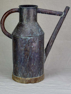 Timeworn antique French watering can 19¼""