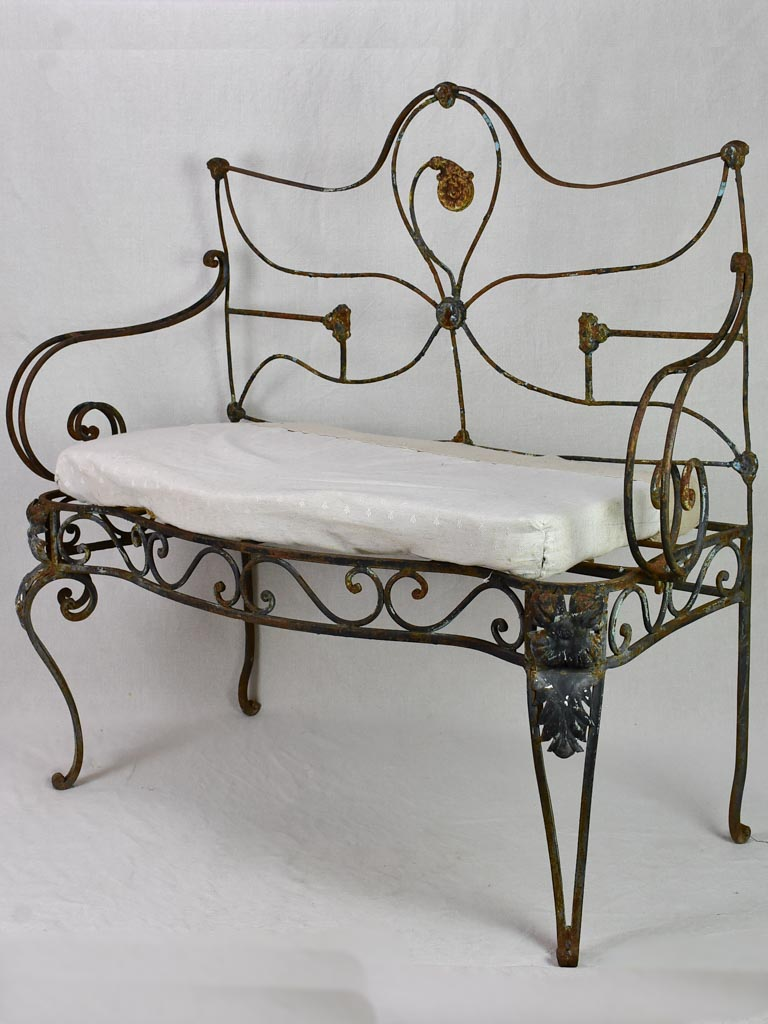 Antique French armchair / garden day bed