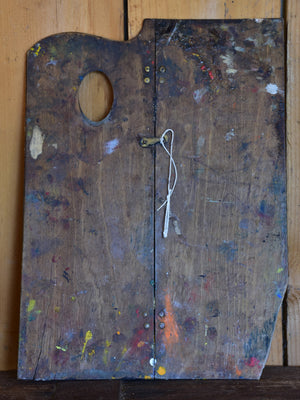 Rustic paint brushes and artist's palette