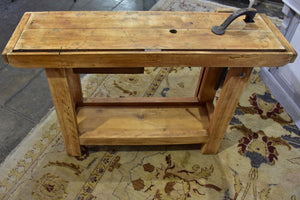 Vintage French carpenter's work bench - branded