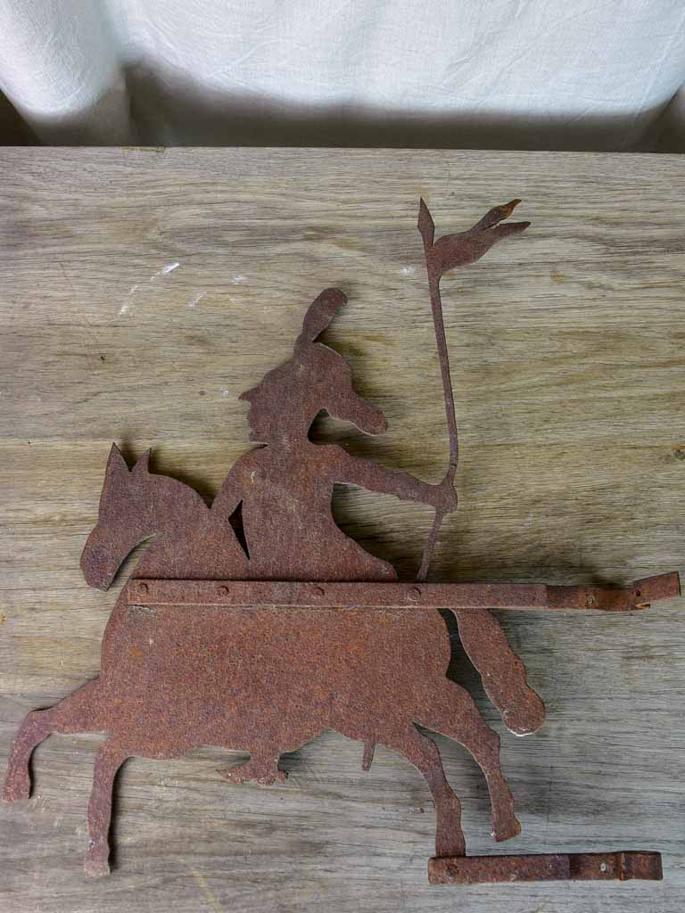 Antique French weathervane - knight / chevalier