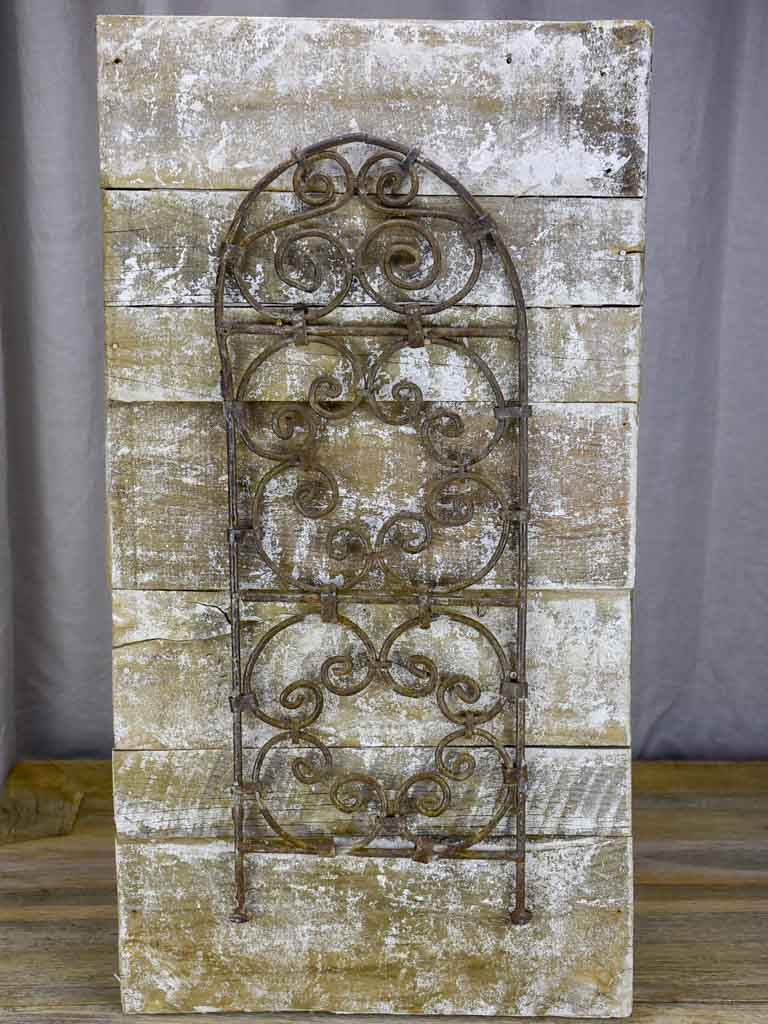 "Decorative wall panel made from salvaged metal and timber 15¾"" x 29½"""