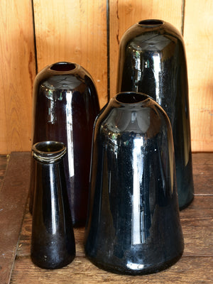 Antique Trinquetaille glass jars